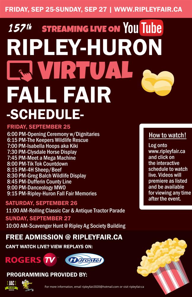 Fall Fair Schedule